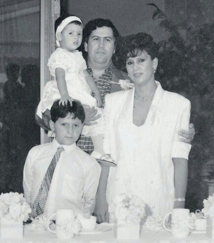 Manuela Escobar With Her Family