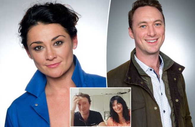 Natalie J. Robb with her present boyfriend Johnny McPherson