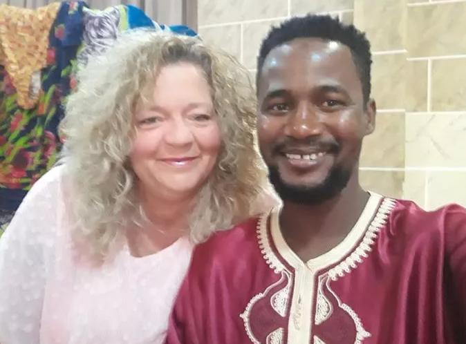Usman Umar With His Ex-Wife, Lisa Hamme