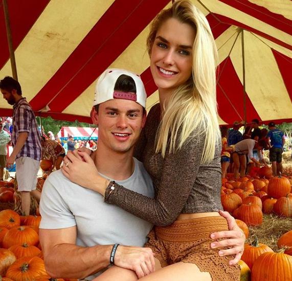 Kelsey Owens with her ex-boyfriend, Garrett