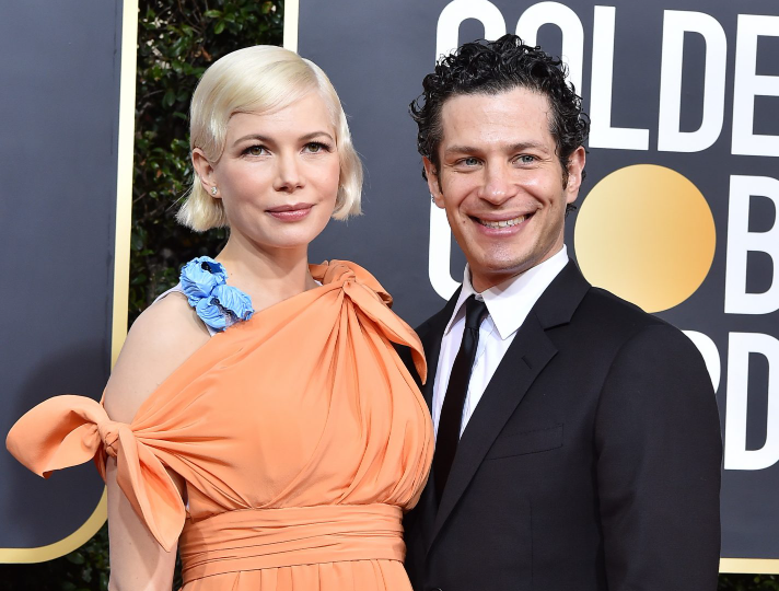 Thomas Kail with his wife, Michelle Williams