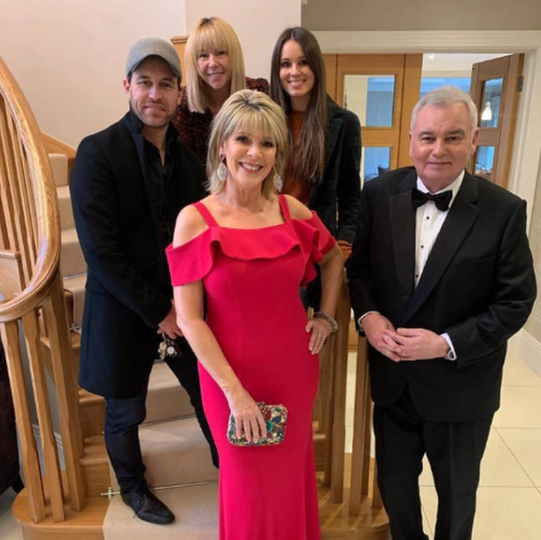 Eamonn Holmes with his wife, Ruth and their kids