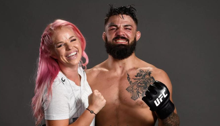 Mike Perry With His Wife, Danielle Nickerson