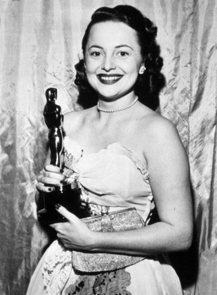 Olivia da Havilland with awards