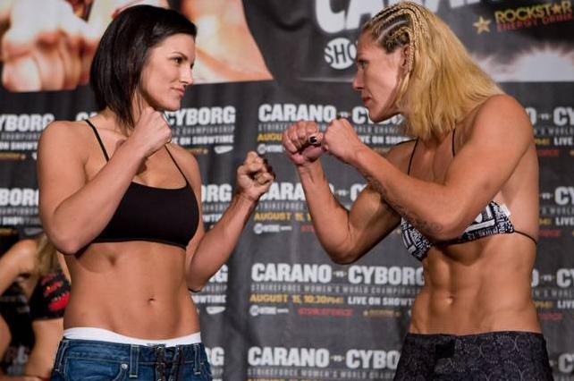"Gina Carano (left) and Christiane ""Cyborg"" Santos (Right)"
