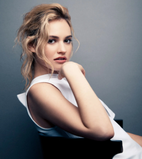 Lily James, a famous actress