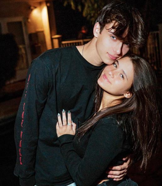 Nessa Barrett with her boyfriend, Josh Richards