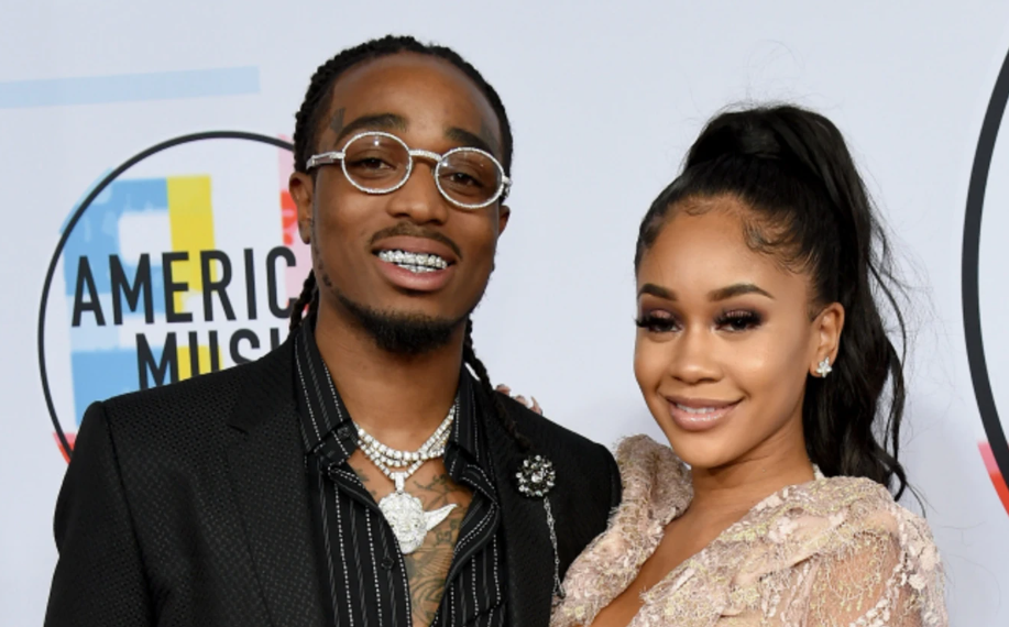 Saweetie with her boyfriend, Quavo