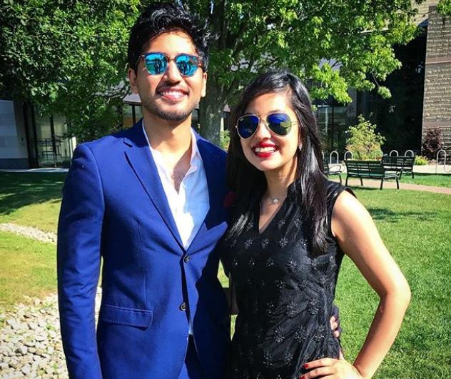 Fahim Saleh and his girlfriend