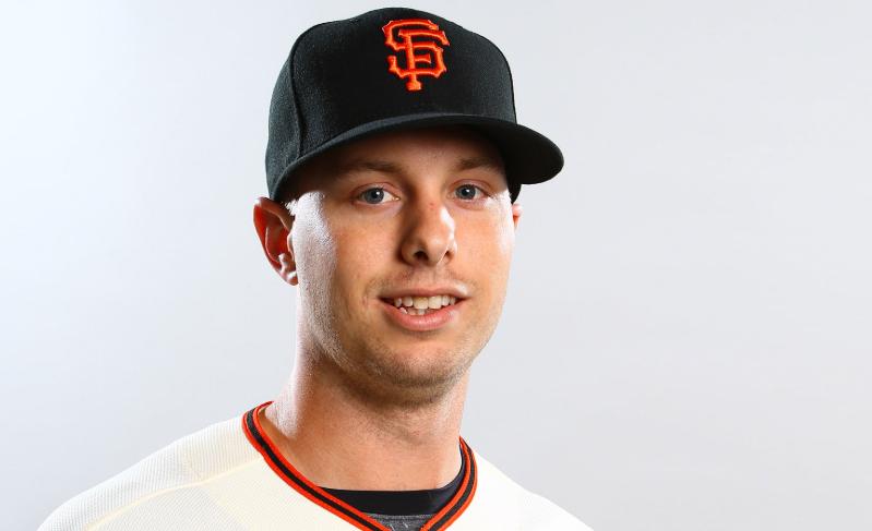 Austin Slater, a famous baseball outfielder
