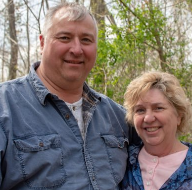 Larry Householder with his wife, Taundra