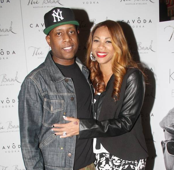 Talib Kweli with his wife, DJ Eque