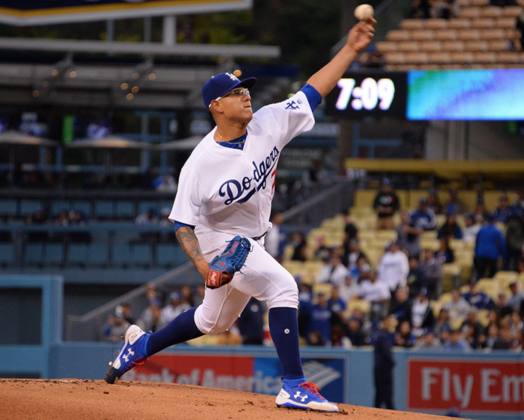Julio Urias, a Mexican professional baseball pitcher for the Los Angeles Dodgers of Major League Baseball (MLB)