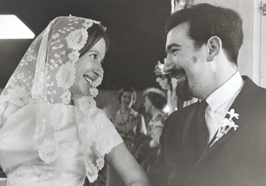 Jerry with his first wife Sara Ruppenthal Katz on their wedding day on April 25th, 1963