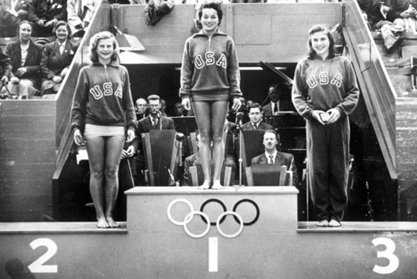 Vicki Draves, first American woman to win two gold medals in diving, and the first Asian American to win Olympic gold medals