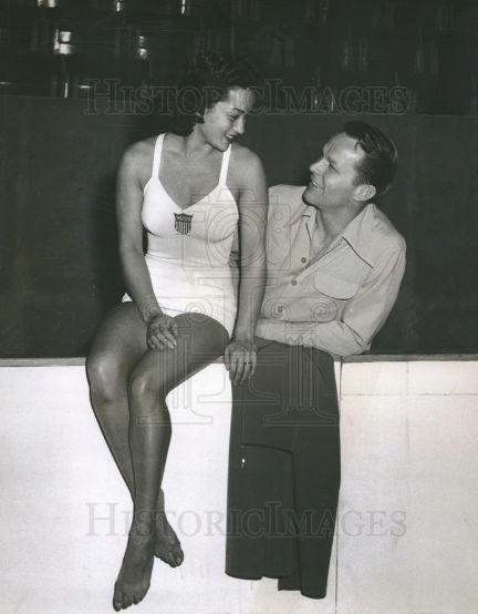 Vicki Draves with her husband Lyle Draves