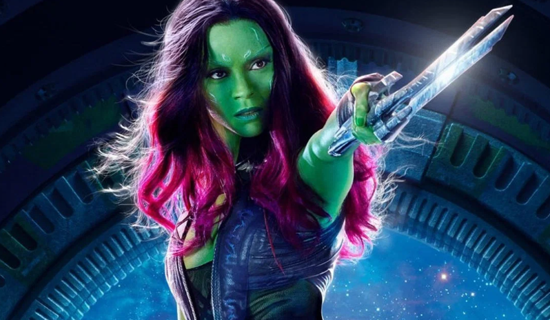 Zoe Saldana as Gamora in the Guardians of the Galaxy
