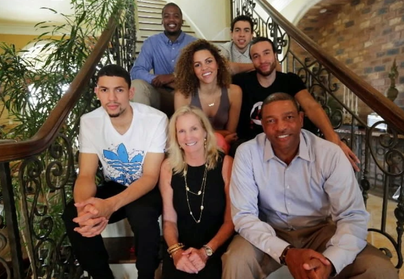 Austin Rivers with his parents and siblings
