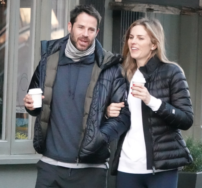 Jamie Redknapp and his new girlfriend, Frida Andersson-Lourie seen together walking in London