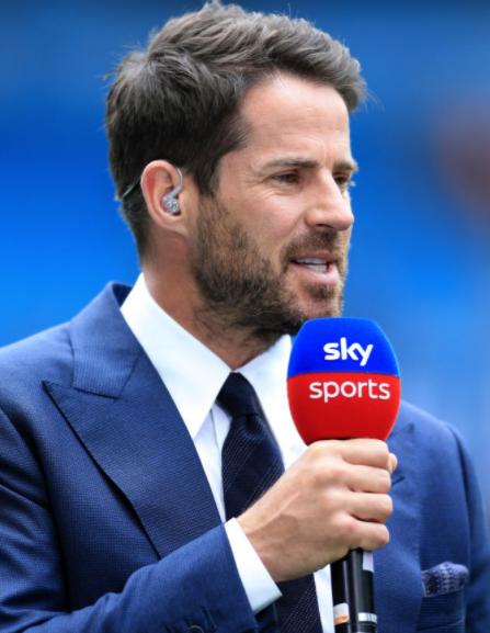 Jamie Redknapp as a pundit at Sky Sports