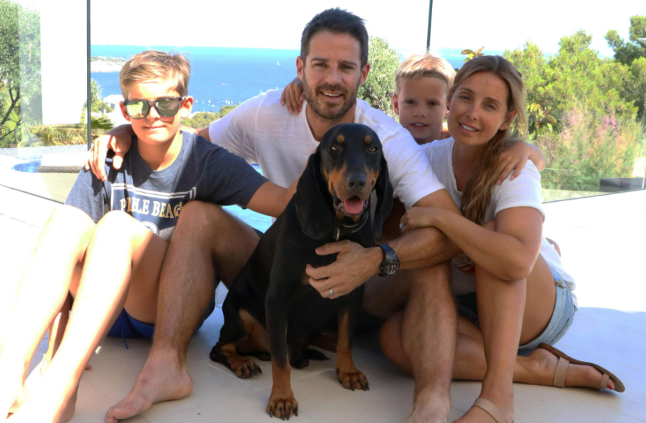 Jamie Redknapp with his ex-wife, Louise Nurding and their kids