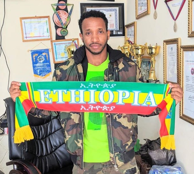 Biniyam Shibre, famous TV personality and MMA fighter from Ethiopia