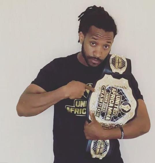 Biniyam Shibre, winning the MMA belt
