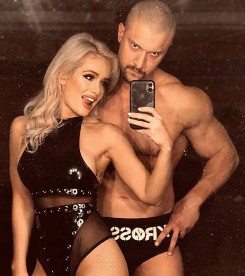 Karrion Kross with his girlfriend, Elizabeth Chihaia