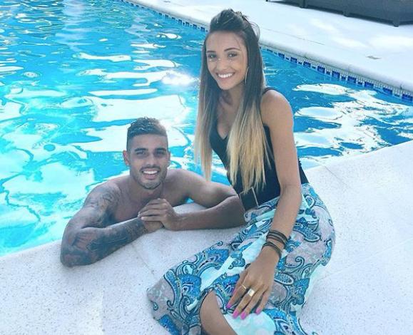Emerson Palmieri and his girlfriend Isadora Nascimento