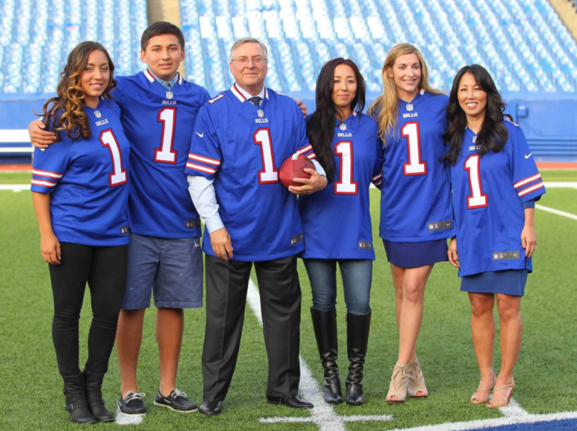 Terry, Kim and the Pegula Family gets a tour of Ralph Wilson Stadium at One Bills Drive