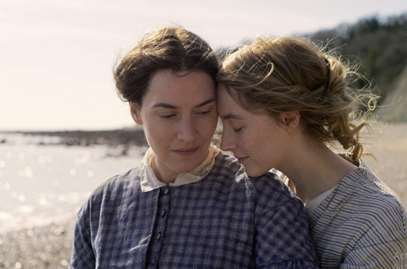 Kate Winslet in her upcoming movie Ammonite with Saoirse Ronan