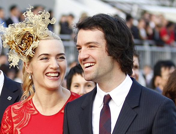 Kate Winslet with her husband, Ned Rocknroll