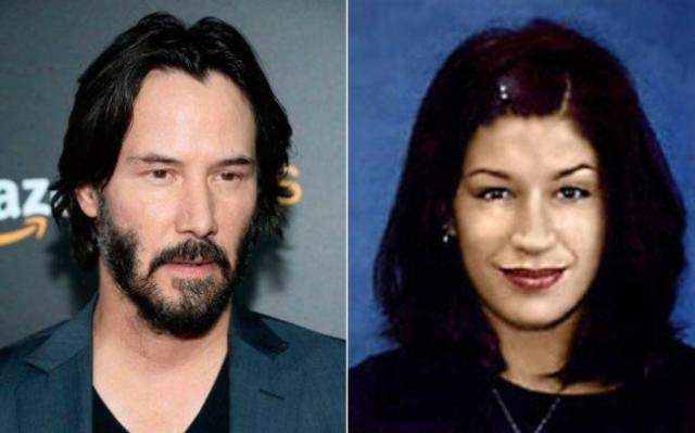 Jennifer Syme(Right)'s boyfriend, Keanu Reeves (Left)