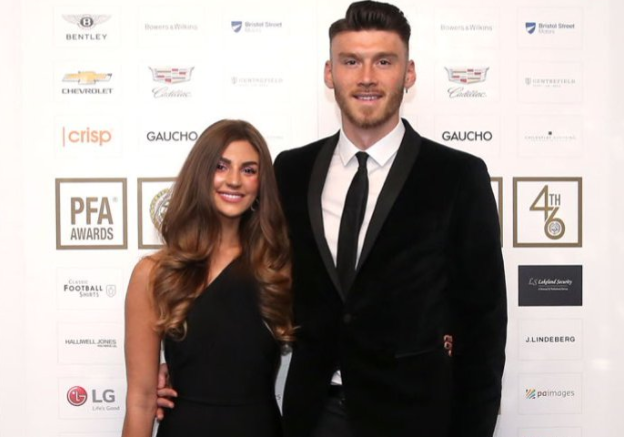 Kieffer Moore and his girlfriend, Charlotte Russell