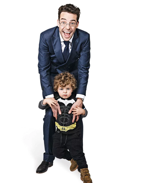 Joe Hildebrand with his baby boy