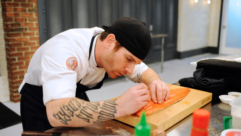 "Aaron Grissom, a contestant on season 12 of the cooking series ""Top Chef"""