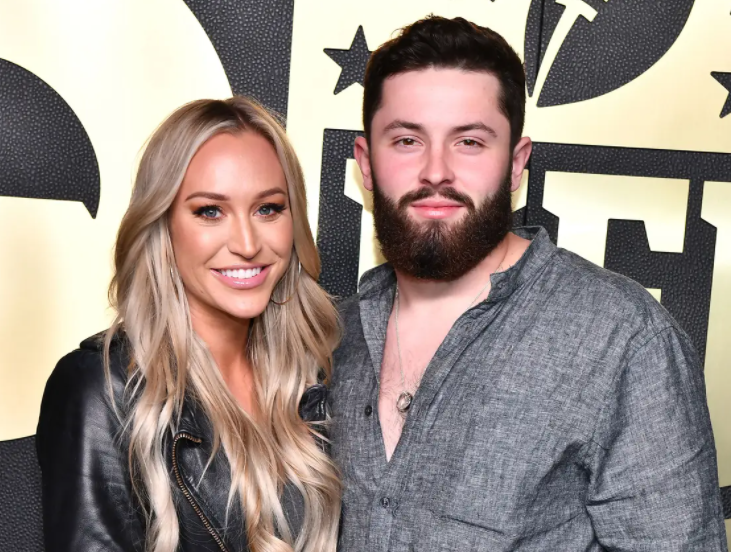Emily Wilkinson and her husband, Baker Mayfield