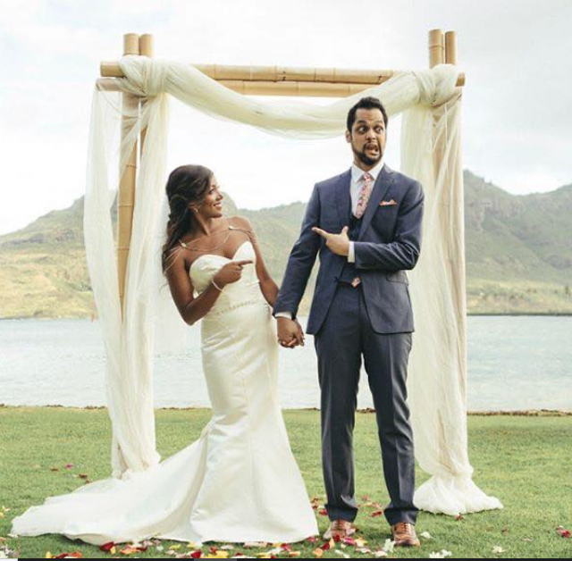 Mickey Guyton and her husband, Grant Savoy