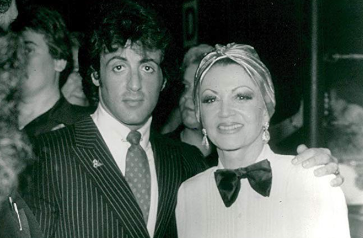 Jackie Stallone with her son Sylvester Stallone