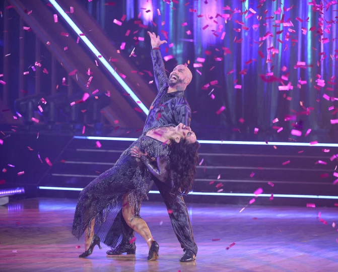 AJ McLean with Cheryl Burke in Dancing With the Stars