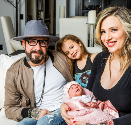 AJ McLean with his wife, Rochelle Deanna Karidis and their daughter