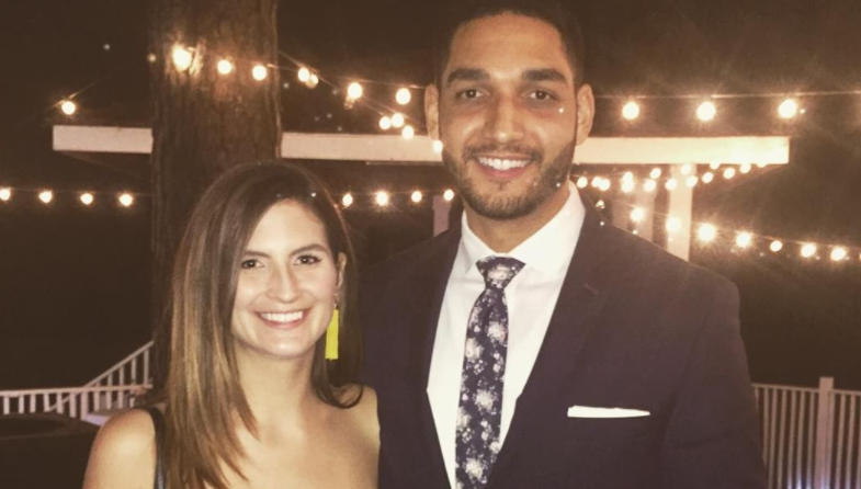 Kaitlan Collins and her fiance, Will Douglas
