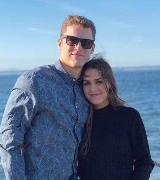 Brett Rypien and his girlfriend, Laura Buck