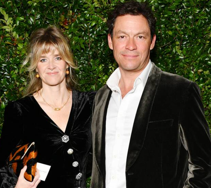 Dominic West with his wife, Catherine FitzGerald