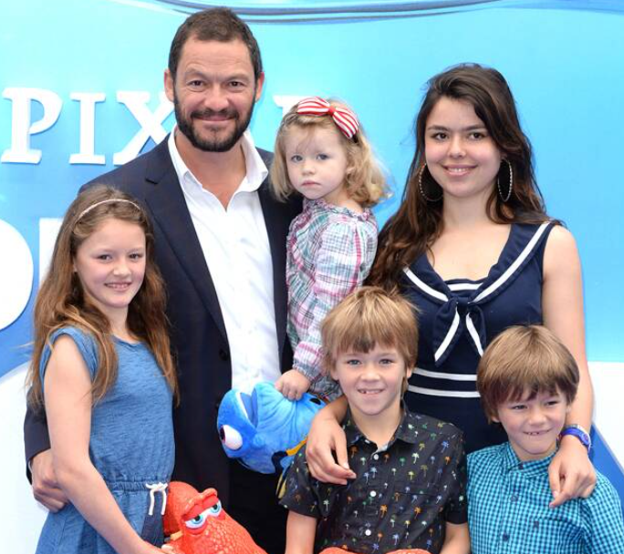 Dominic West's lovely kids
