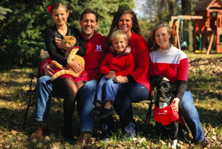 Ben Sasse with his wife, Melissa and three kids