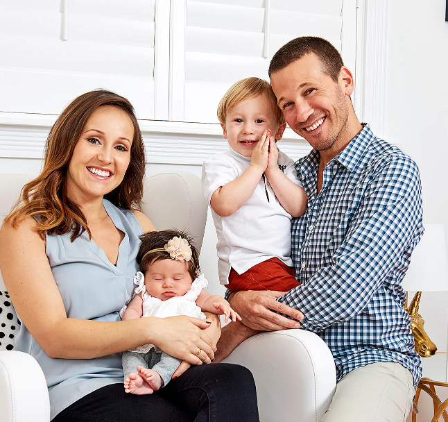 Ashley Hebert with her husband and their kids