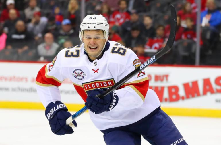 Evgenii Dadonov, a famous ice hockey player
