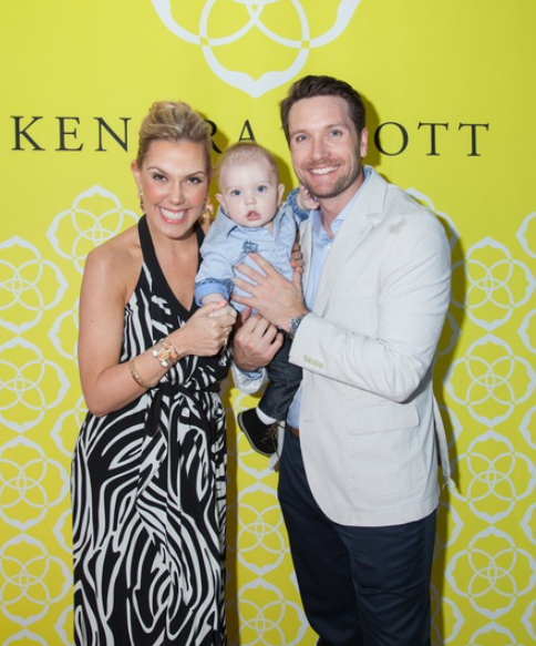 Kendra Scott and her husband, Matt Davis with their son