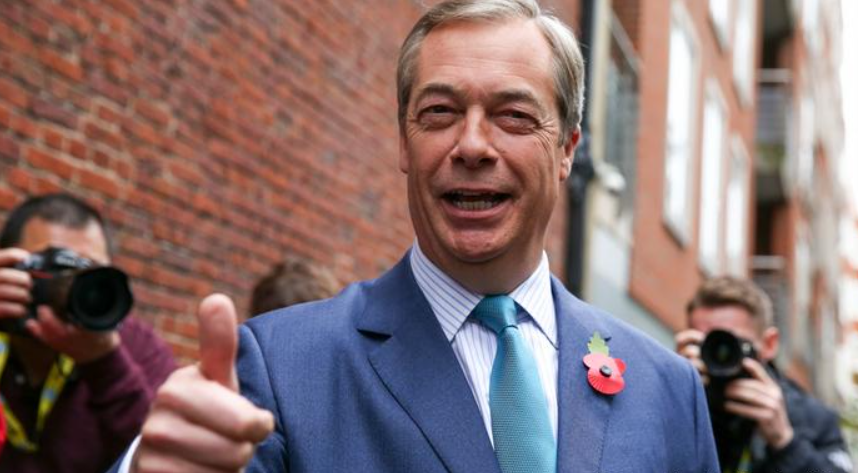 Nigel Farage, a famous politician